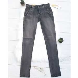 Mossimo Grey Low Rise Skinny Jeans